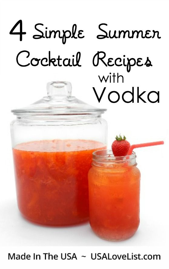 Four simple summer cocktail drink recipes with vodka for Vodka mixed drink recipes simple