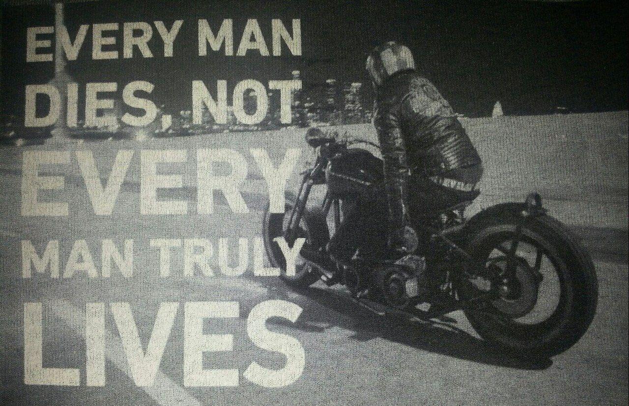 Custom Bike Zip Up Hoodie Every Man Dies Not Every Truly Lives