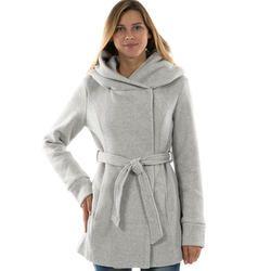 Manteau a capuche femme mim