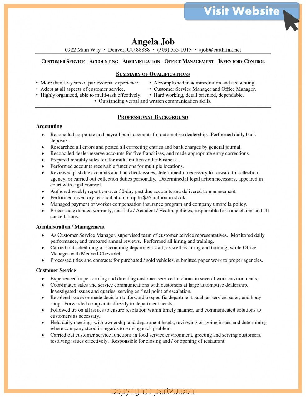 Pin On Customer Service Resume Examples