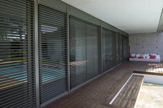 Lamas de aluminio exteriores buscar con google casas - Lamas persianas pvc ...