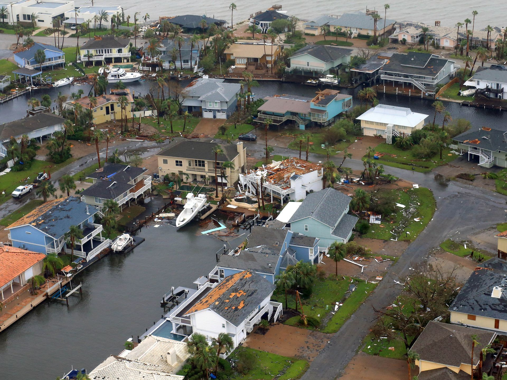 Hurricane Harvey Residents In Small Communities Work Through Damage Aerial Photo The Weather Channel Texas Flood