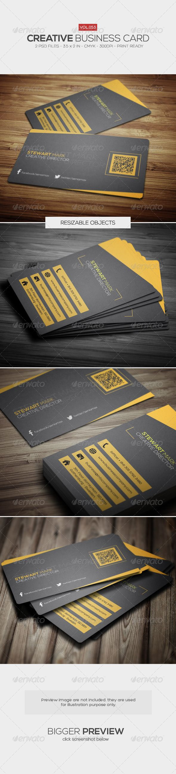 Creative Business Card 053   Business company, Business cards and ...