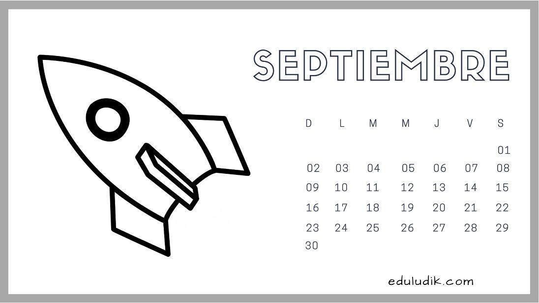calendario septiembre 2018 eduludik calendrier septembre 2018 rh pinterest com