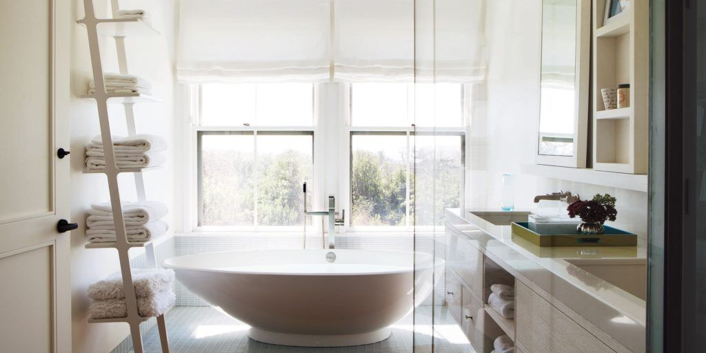 view bathroom ideas%0A Contemporary Modern Bathroom Complete With Sliding Doors and a Great View  from the Windows of the Bathroom