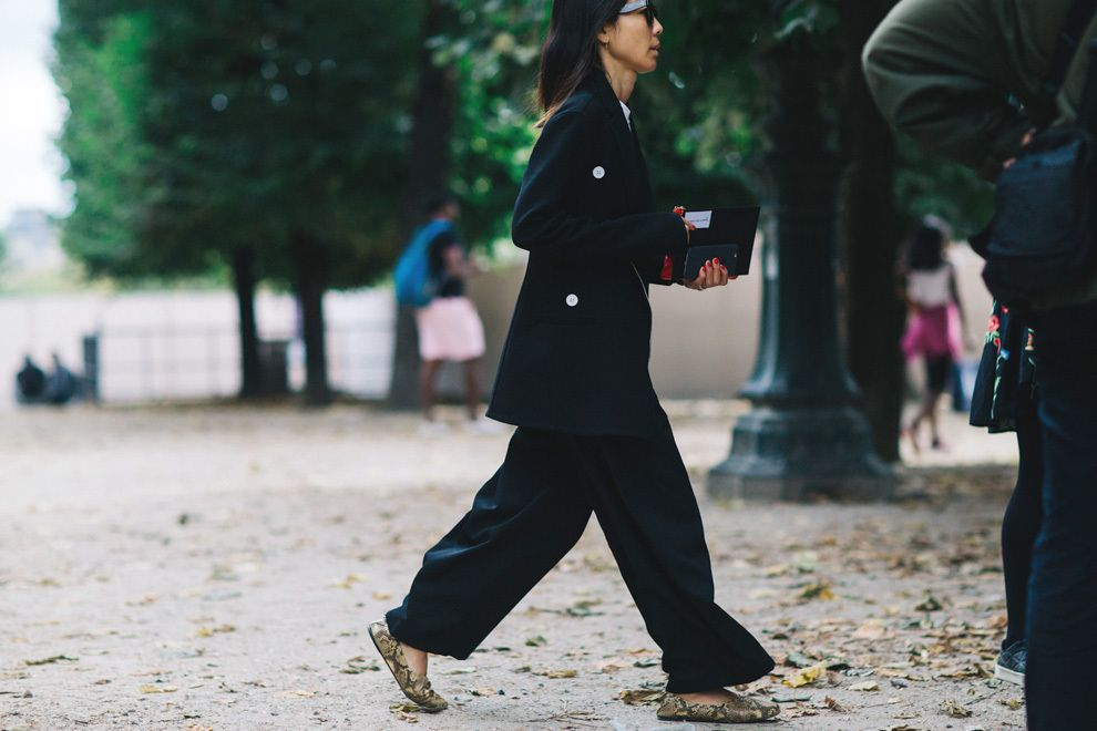 Streetstyle at Fashion Week in Paris.  Part 1