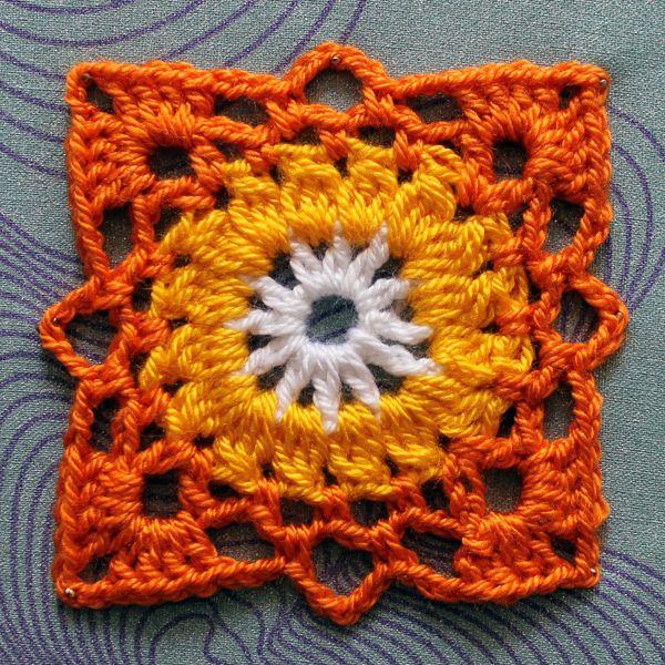 Patrón para tejer este granny square | salva manteles | Pinterest ...