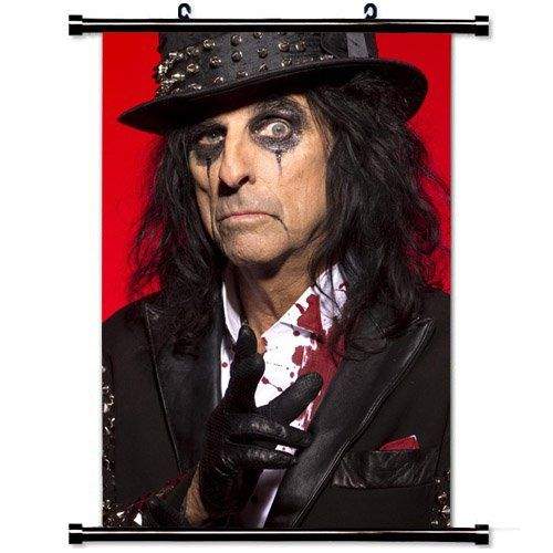Home Decor Music Hot singer poster with Alice Cooper Costume Image Makeup Blood Wall Scroll Poster Fabric Painting 24 X 36 Inch 60cm X 90 cm -- Check this awesome product by going to the link at the image.Note:It is affiliate link to Amazon. #beach