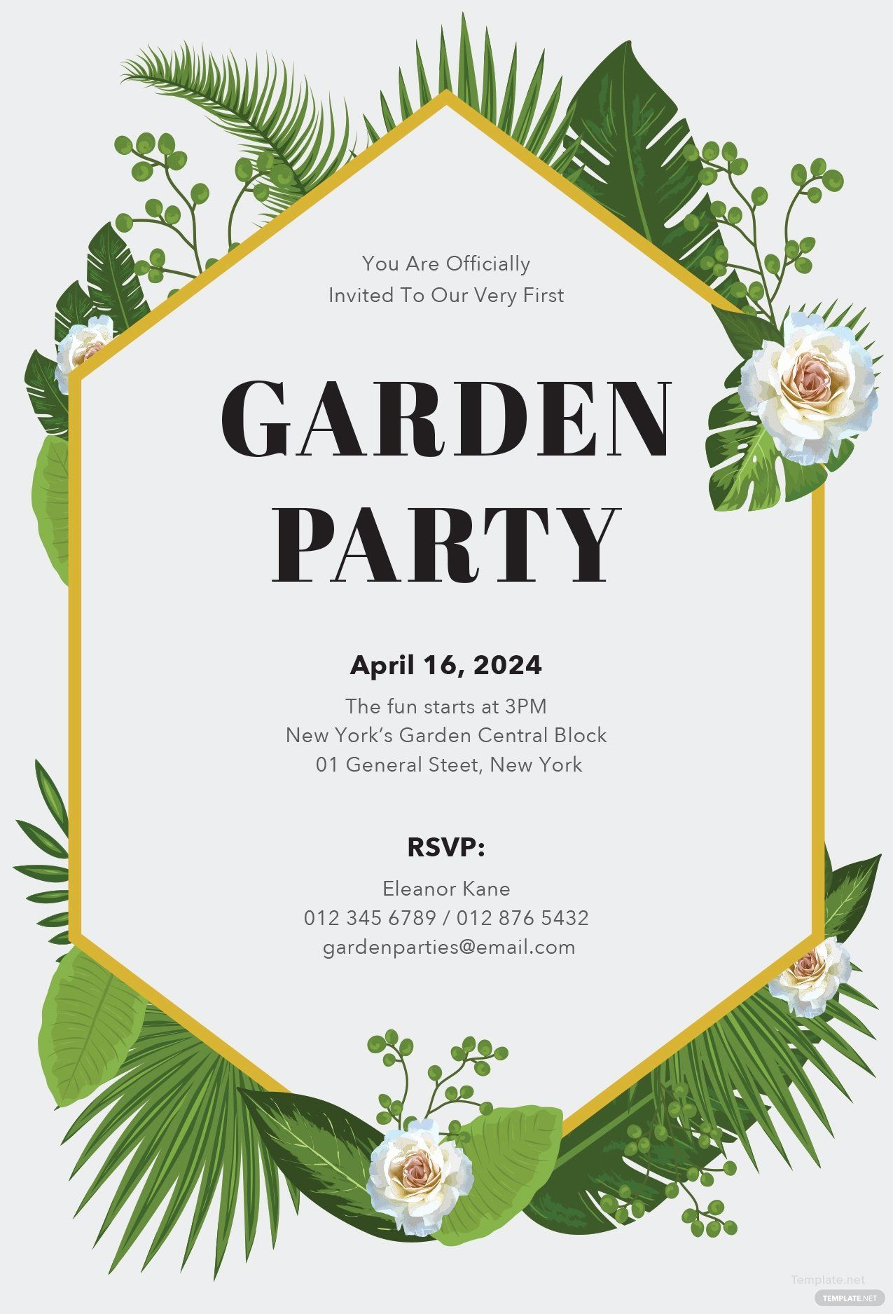 Free party invitation template word luxury free garden