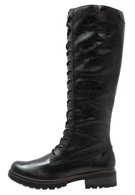 Snørestøvler black   Boots, Black boots, Lace up boots