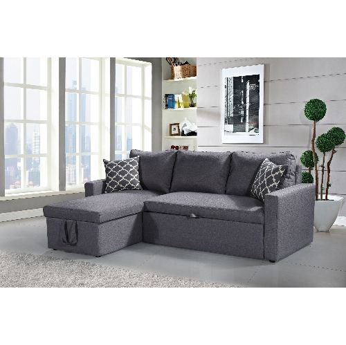 Admirable Husky Zara Reversible Sectional Sofa 3 In 1 Sofa Bed Machost Co Dining Chair Design Ideas Machostcouk