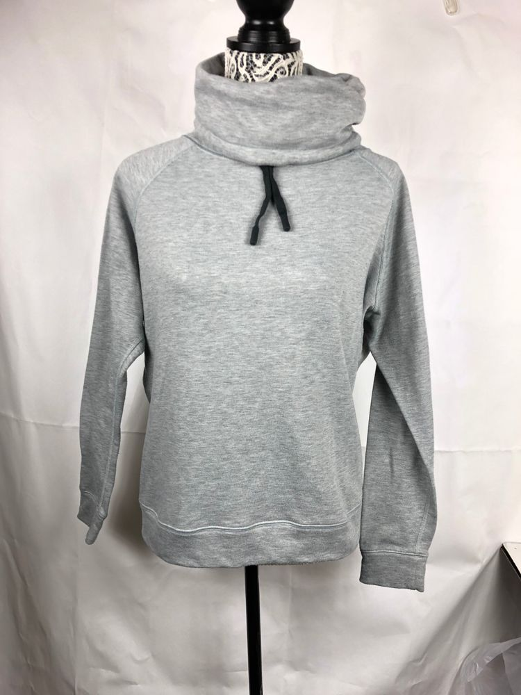 Nike dri fit womens cowl turtle neck sweatshirt hoodie