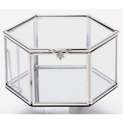hexagonal glass trinket box at homebase be inspired and make your rh pinterest ca