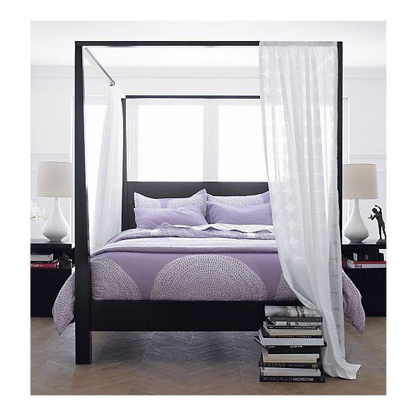 pavillion black canopy bed crate and barrel pavillion makes a rh pinterest com