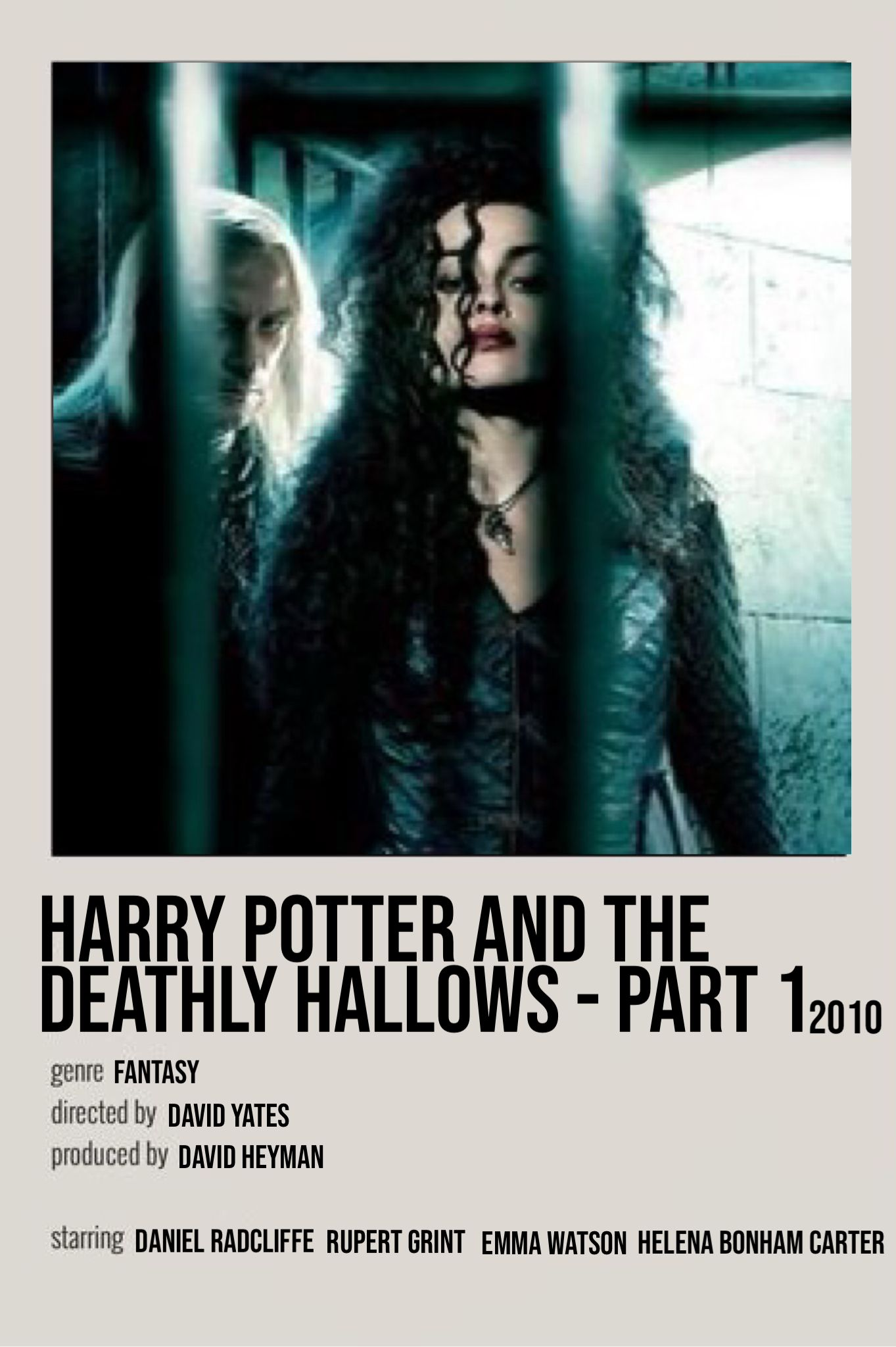 harry poteer and the deathly hallows - part 1 film poster
