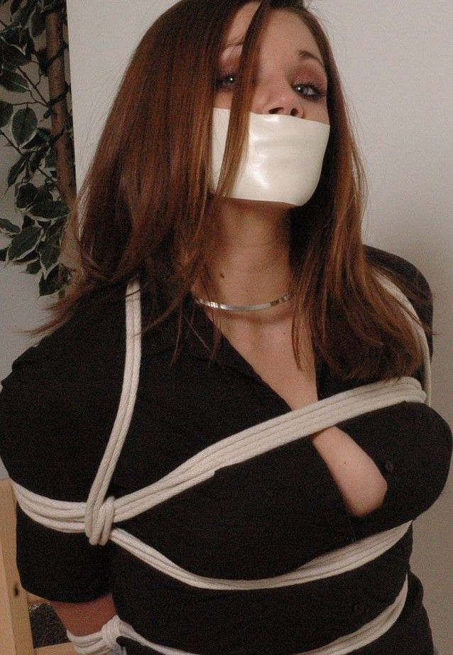 Tied tape gagged