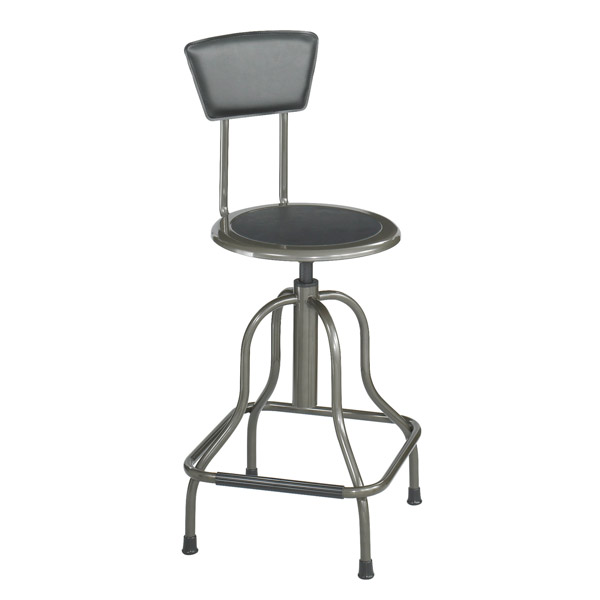 Diesel High Base Stool W Back Stools With Backs Industrial