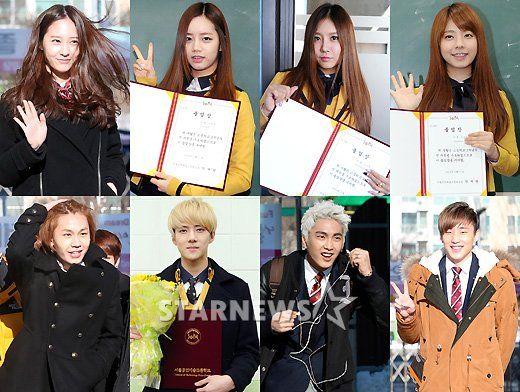 Numerous Idol Stars Graduate From High School High School Idol Pop Group