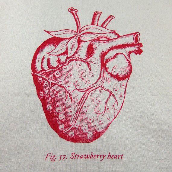 Anatomical Heart Strawberry Tote Bag | Anatomical Heart | Pinterest ...