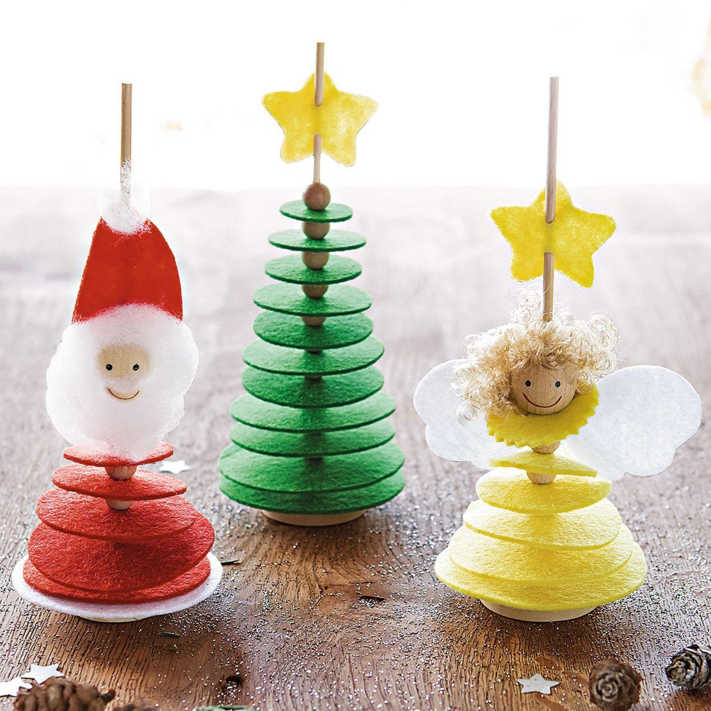 filz stecker weihnachten bastelset f r 3 st ck online bestellen jako o weihnachtsbasteln. Black Bedroom Furniture Sets. Home Design Ideas