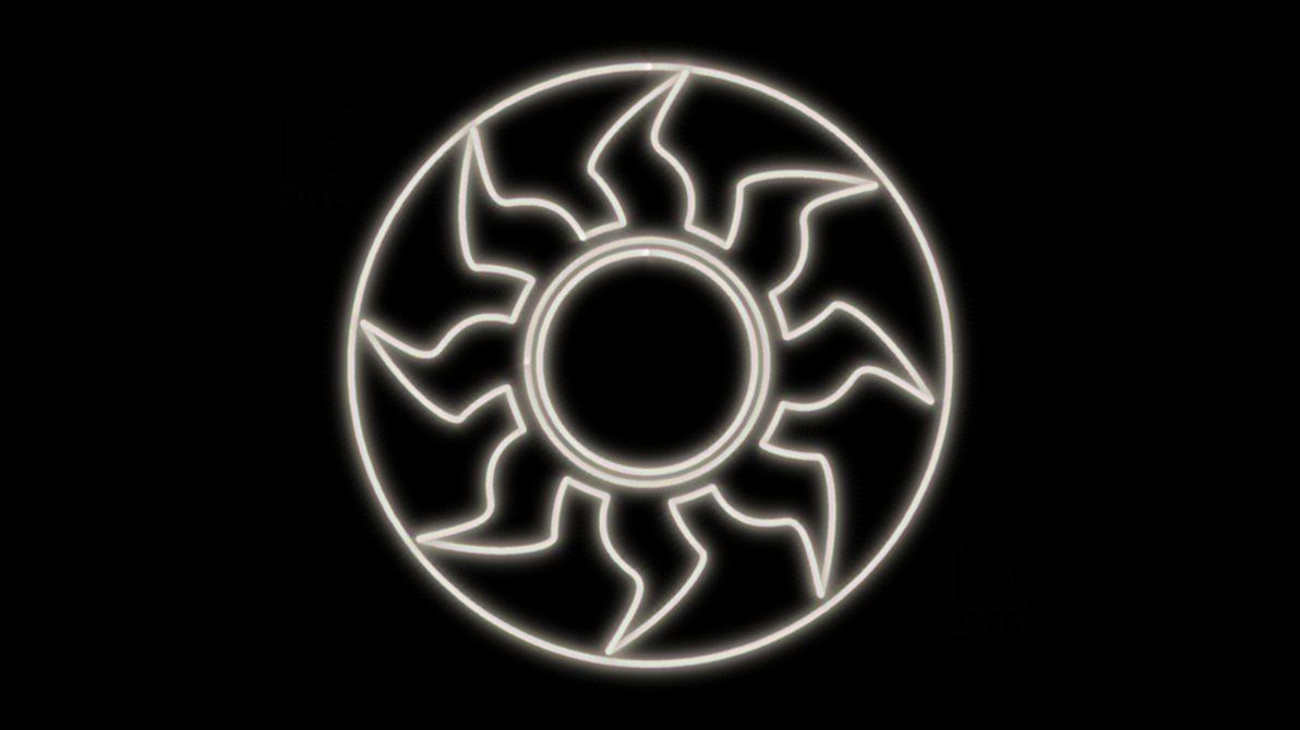 Magic The Gathering White Mana Symbol Neon Wp By Morganrlewis