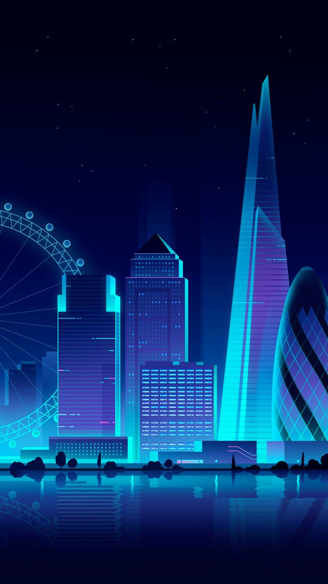 Blue City Night Spectacular Https Imaginationrevelation Com