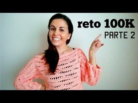 ▶ cómo tejer un SWEATER a CROCHET (suéter jersey saco pullover) - Parte 2 - YouTube