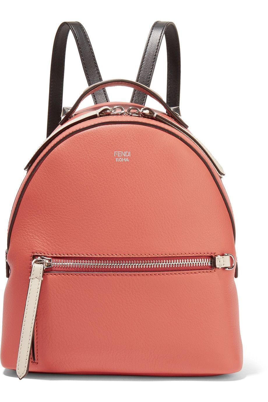 FENDI Mini Textured-Leather And Mesh Backpack.  fendi  bags  leather   0ab4cd6e1036f