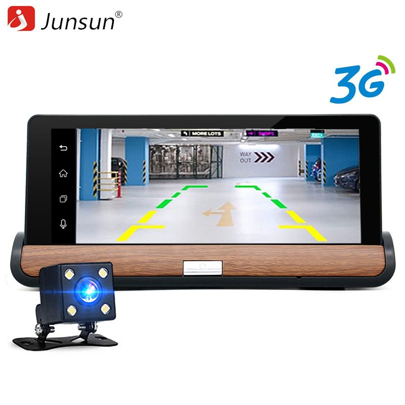 """7/"""" Android Wifi Dual Lens Car GPS DVR Camera Video Recorder w// Rear View Camera"""