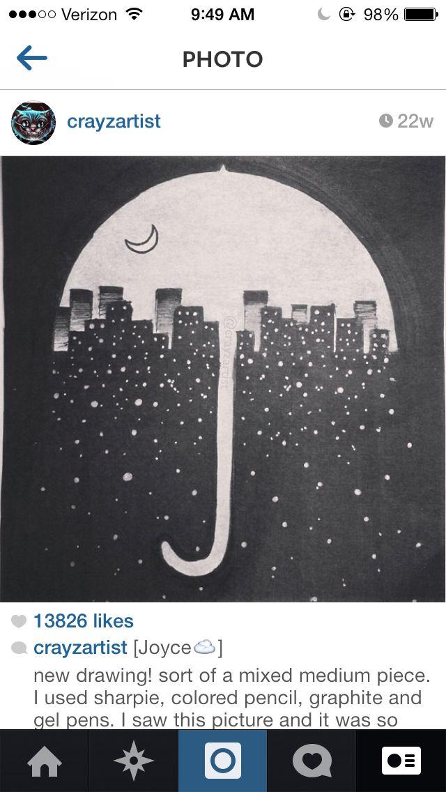cityscape umbrella art, I personally love this