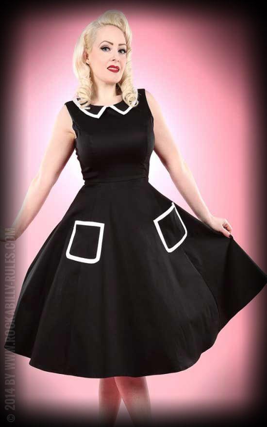 Kleid Pocket Prescilla, schwarz weiß | Dresses / Kleider ...
