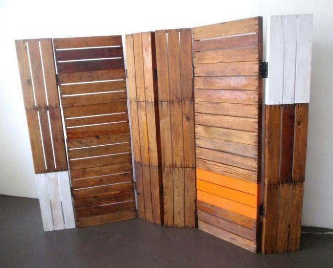 diy wooden pallet portable room dividers design ideas pallets rh in pinterest com