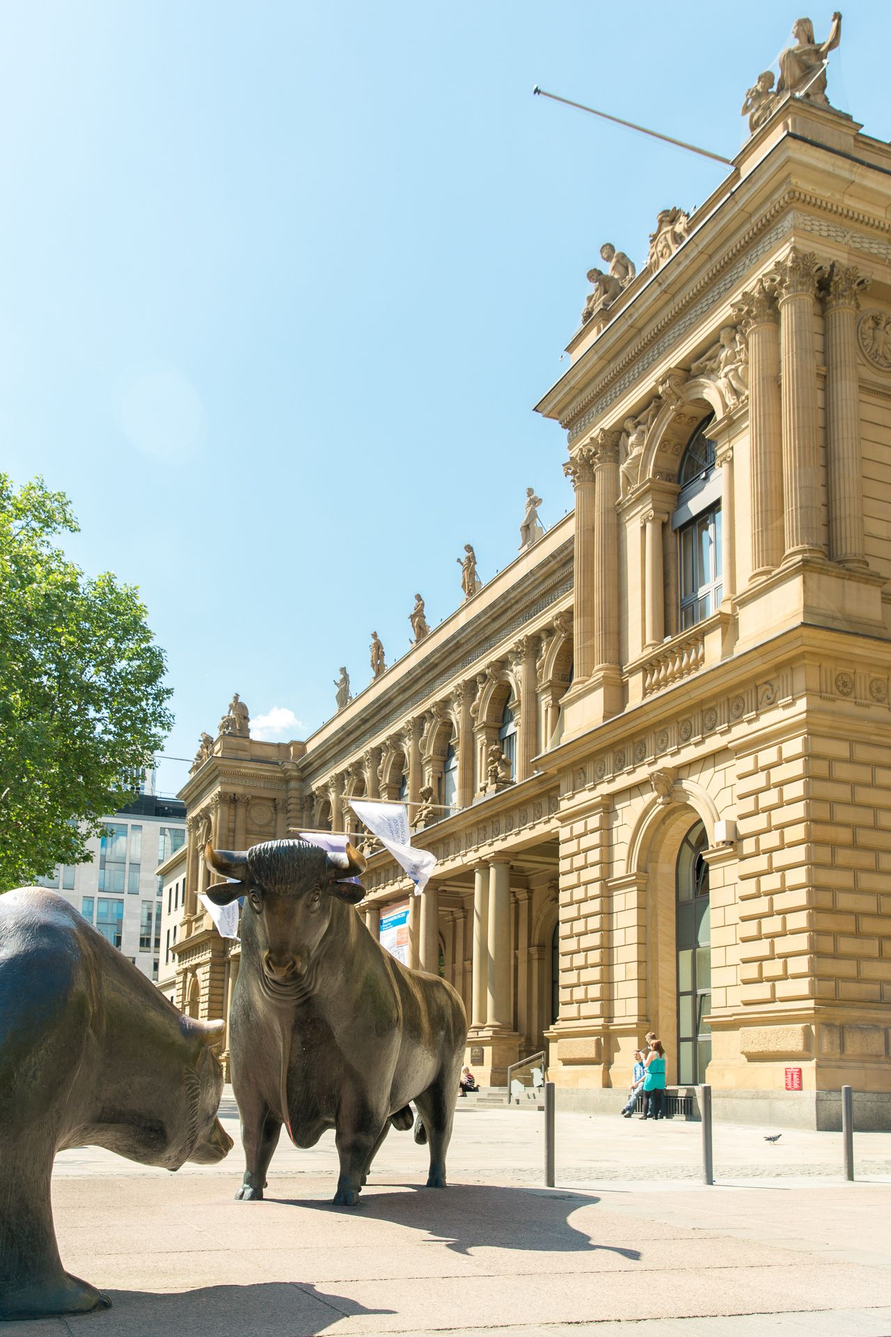 The German Stock Exchange in Frankfurt am Main - Germany ...