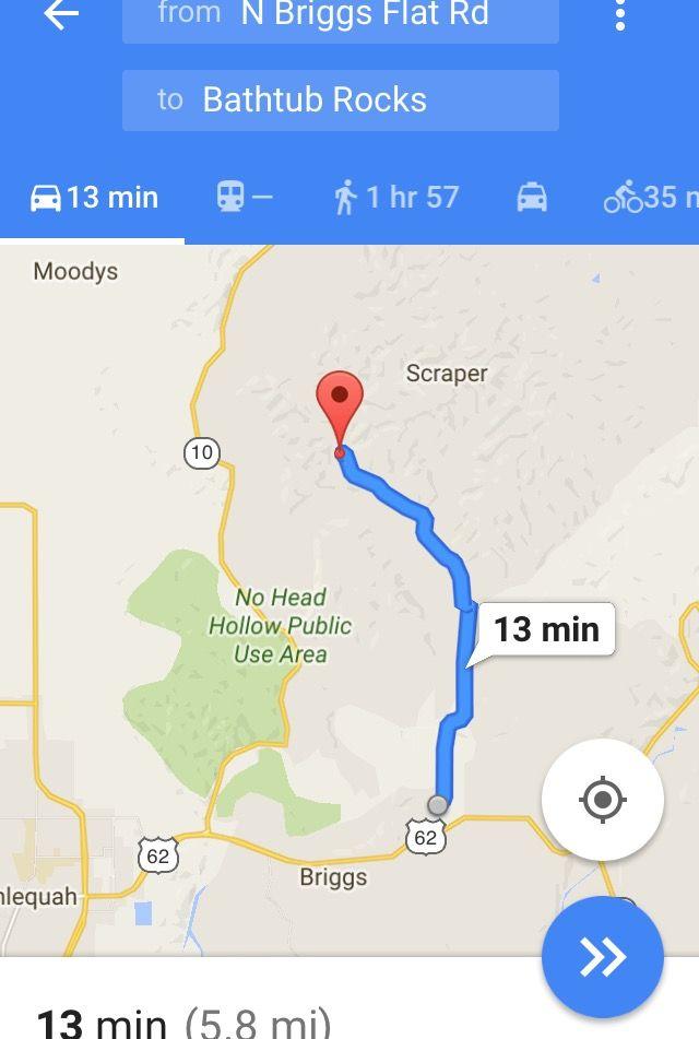 Bathtub Rocks Via Google Maps, Off Briggs Flats Rd, NE Of Tahlequah, OK