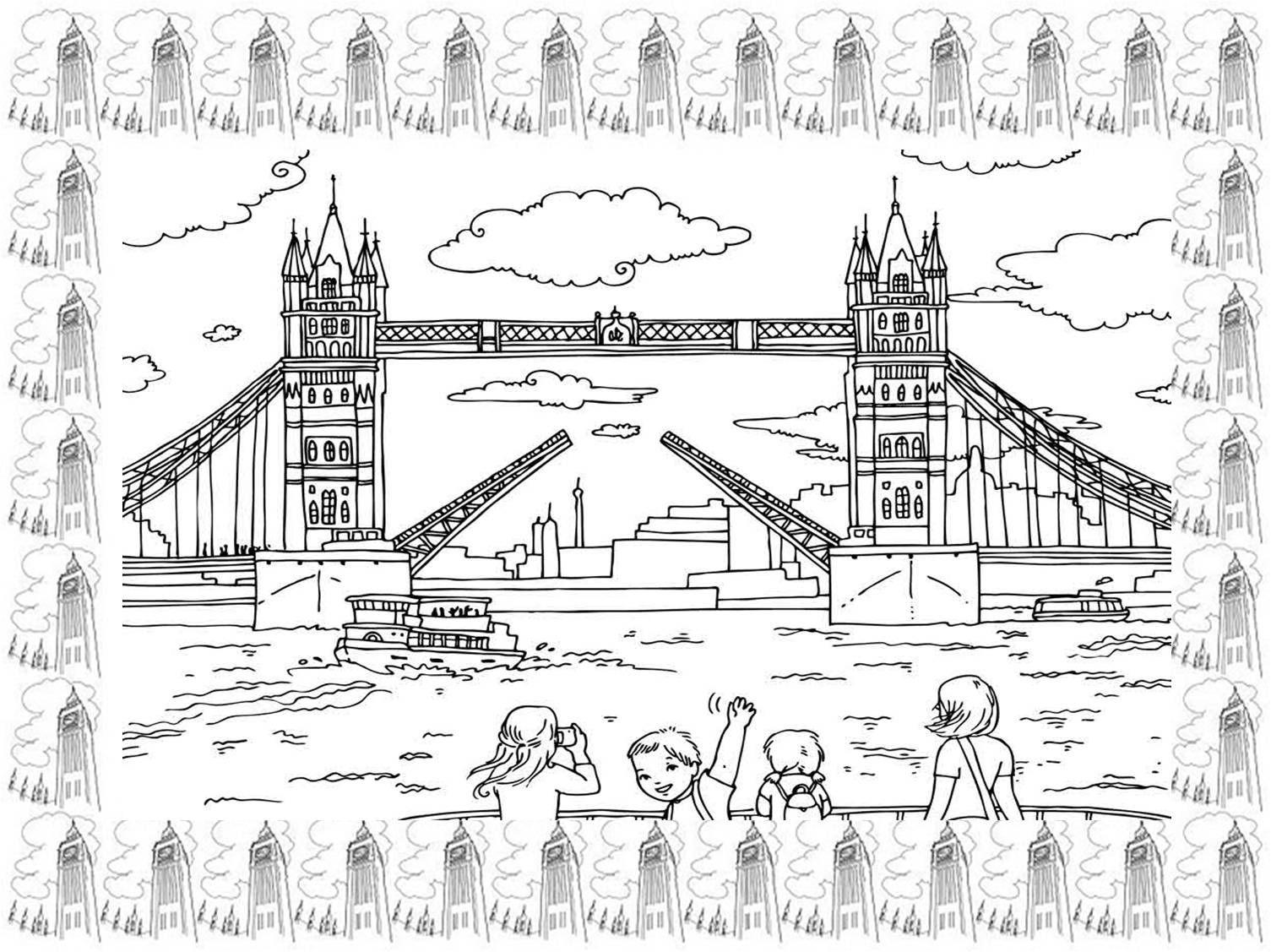 Dibujos De NiÑos Por Nacionalidades: Fichas De Londres Para Niños