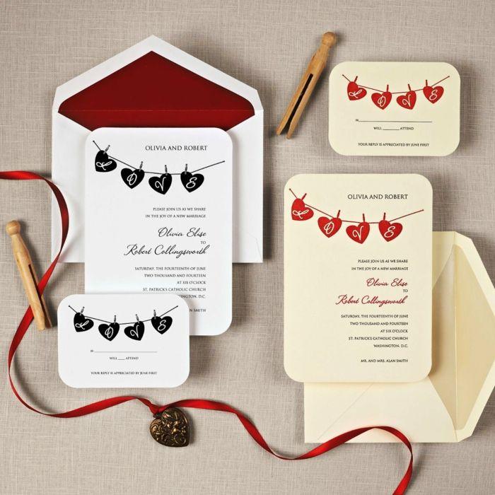 bodas originales, invitaciones de boda en blanco y beige con - invitaciones para boda originales