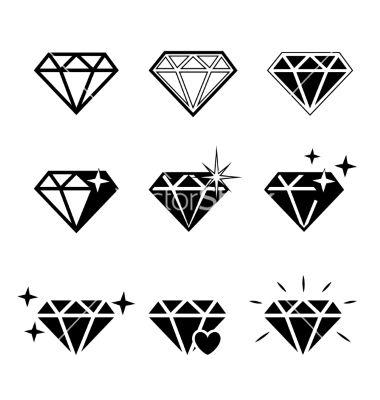 Diamond Vector Image On Diamond Tattoo Designs Diamond Tattoos Diamond Drawing