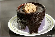 What to do when you don't have chocolate in the house! Chocolate Mug Cake - YUM!