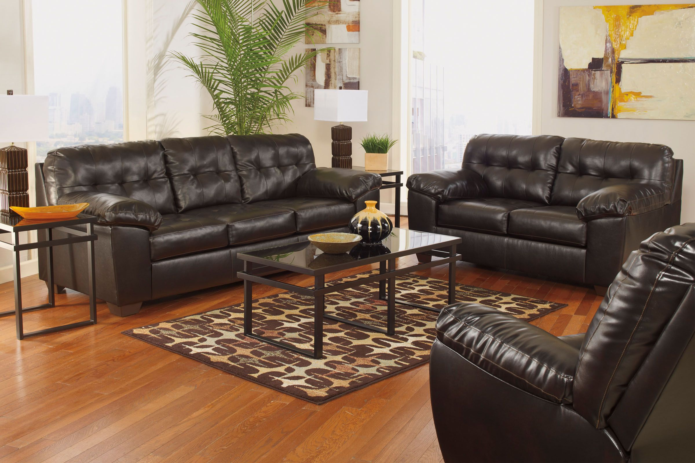 Alliston Queen Sleeper Sofa Living Room Sets Chocolate Living Rooms Living Room Furniture