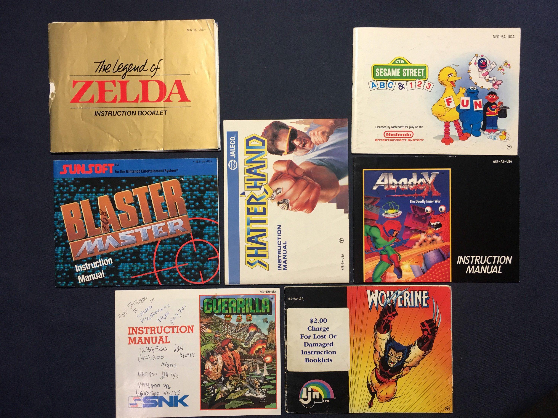 Vintage Nintendo Nes Instruction Booklets Video Game Manuals