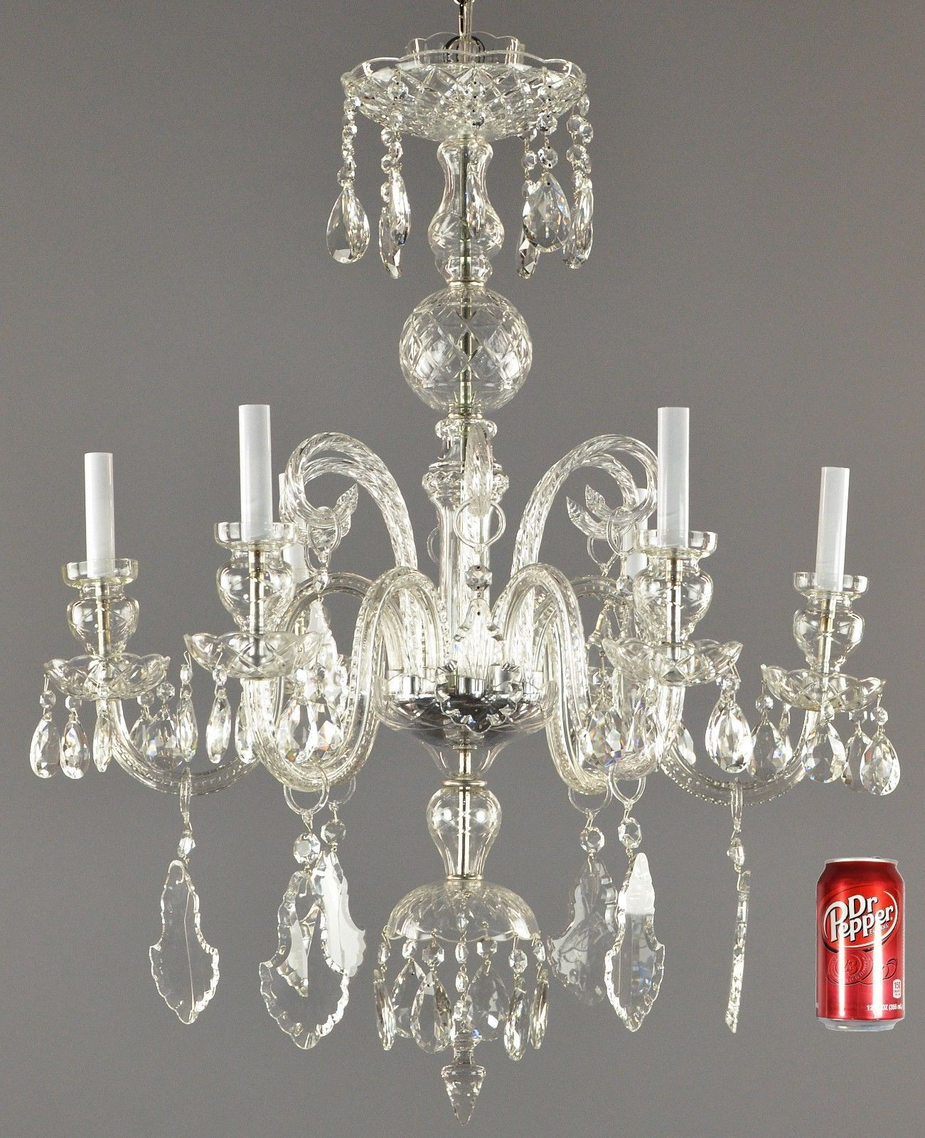 Antiques Gifts Czechoslovakian Crystal Chandelier C1930 Vintage