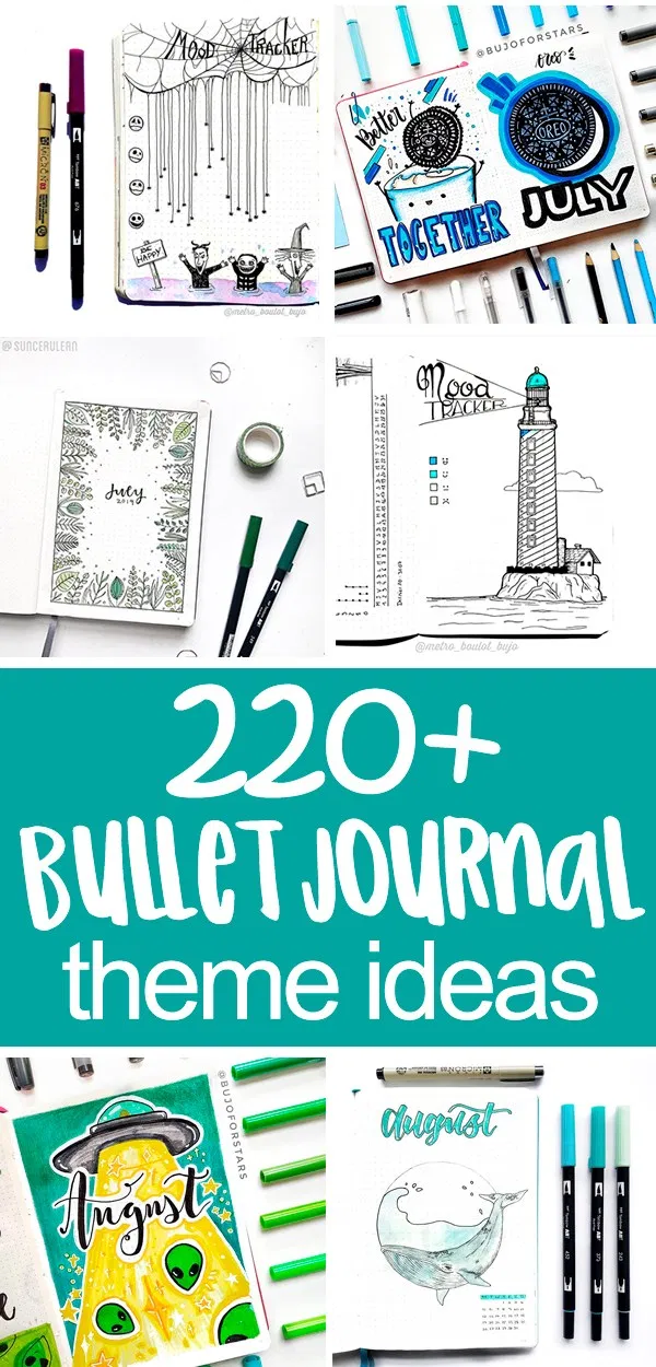 220+ Inspirational Bullet Journal Theme Ideas - Planning Mindfully