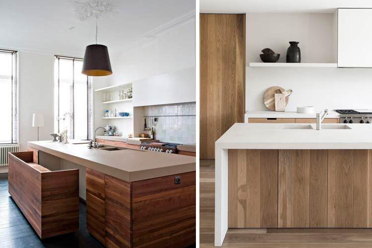 Cocinas contemporáneas en madera | Cocinas | Pinterest | Cocina ...