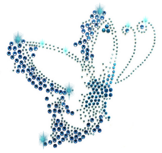 xl strass applikation schmetterlinge butterfly bügelbild