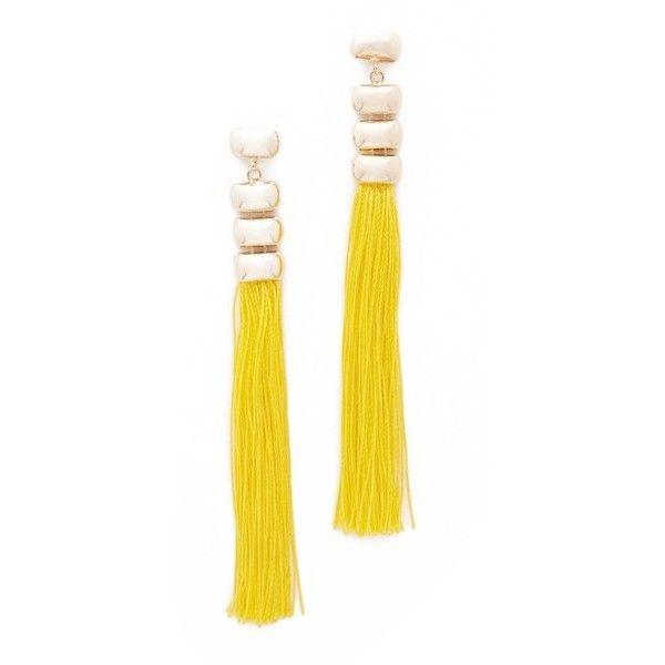 Rosantica Atena Earrings (7.800 RUB) ❤ liked on Polyvore featuring jewelry, earrings, tassel earrings, brass earrings, tassel jewelry, brass jewelry and rosantica