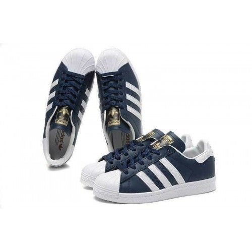 outlet store 24224 9ed66 Adidas Originals Superstar Foundation Herr Dam Skor Navy Vit B27163