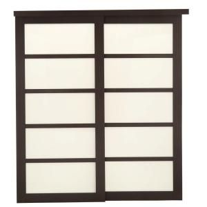 Truporte 2240 Series 48 In X 80 In Espresso 5 Lite Composite Universal Grand Sliding Door 249277 Sliding Glass Door French Doors Interior Sliding Doors Interior