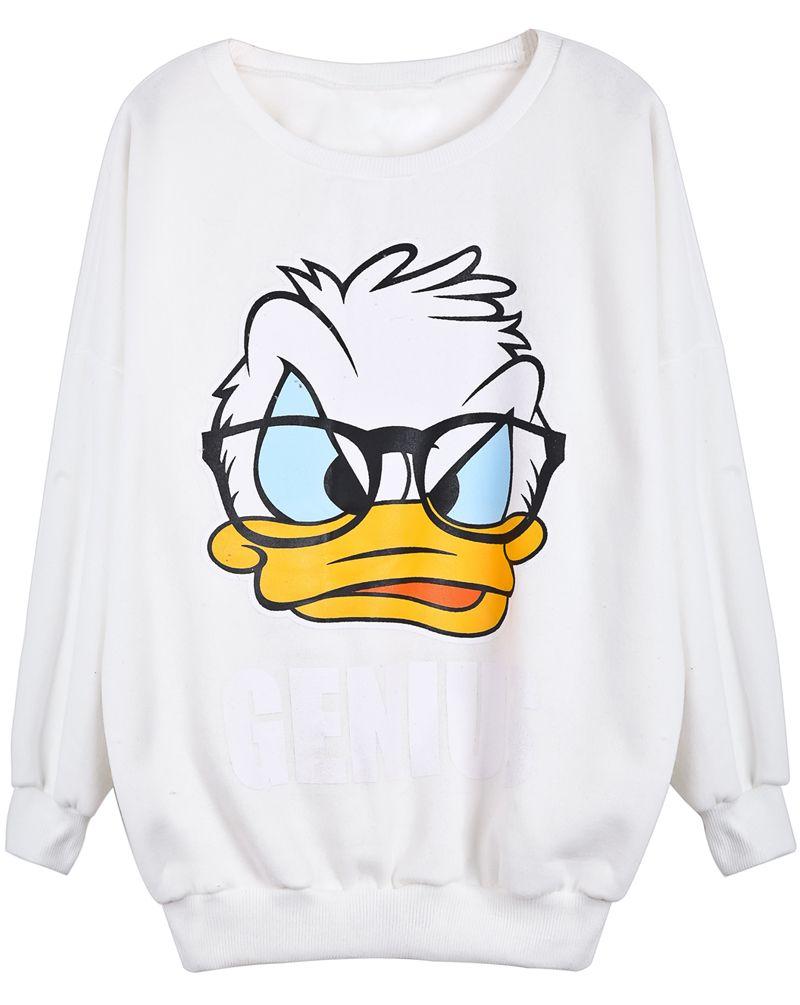mejor selección ebdd7 6ee61 Sudadera Donald Duck manga larga-Blanco EUR€16.81 | 2/11 en ...