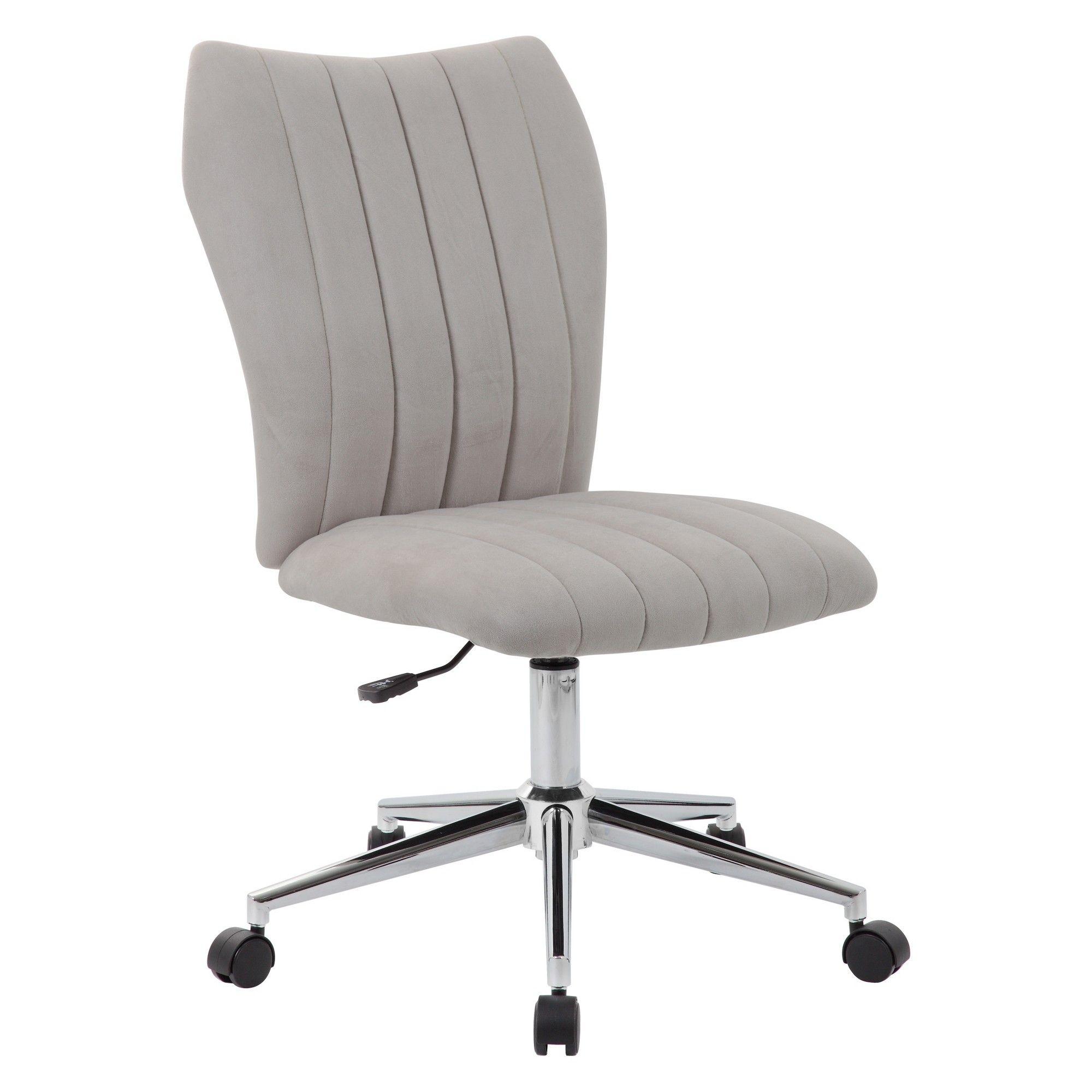 Livia Task Chair Velvet Gray - Boss