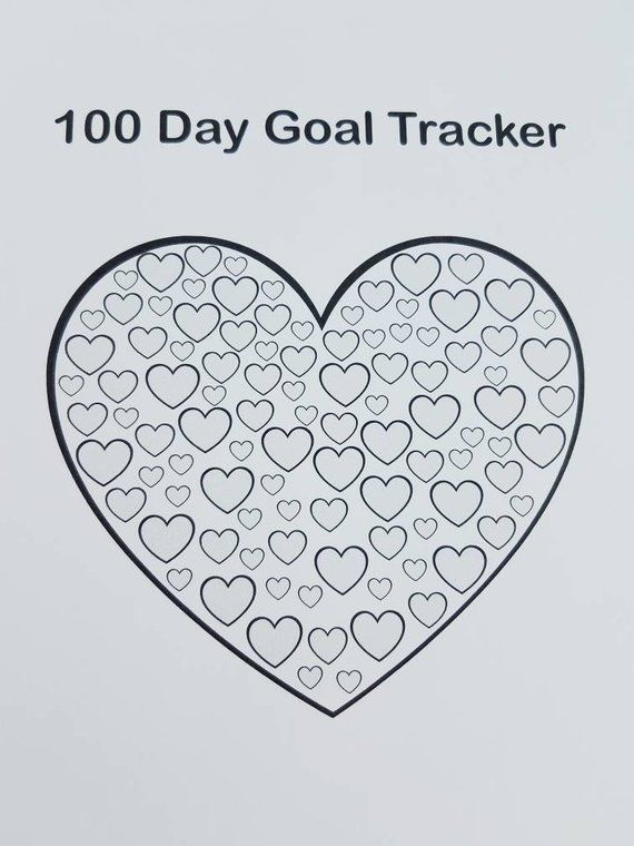 Bullet Journal sized 100 day habit tracker. Goal tracker